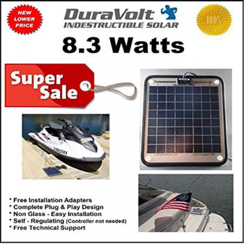 DuraVolt Marine Solar Panel Battery Charger
