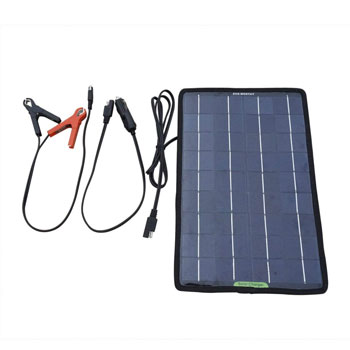 ECO-WORTHY Solar Panel for Boat with Alligator Clip Adapter