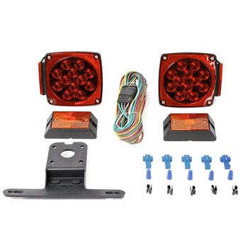 MaxxHaul All LED Submersible Trailer Light Kit