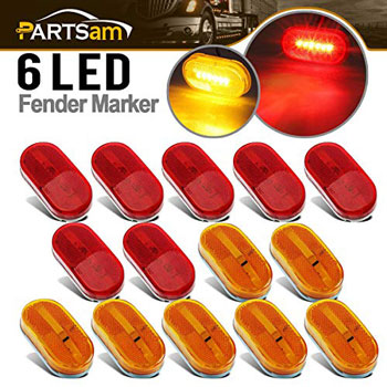 Partsam Trailer Led Side Marker and Clearance Lights