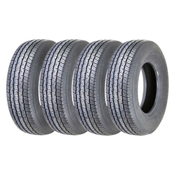 Set of 4 New Premium Grand Ride Trailer Tires