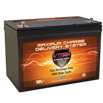 VMaxTanks MR 127 Deep Cycle AGM Battery