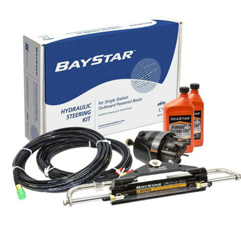 Baystar Kit Hydraulic Steering Kit with Compact Cylinder