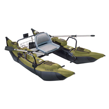 Classic Accessories Colorado Inflatable Fishing Pontoon Boat With Motor Mount