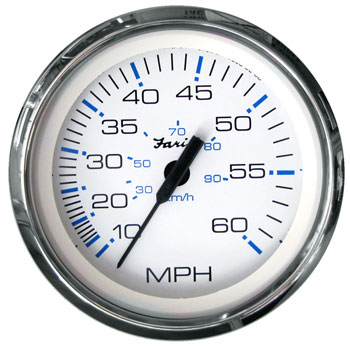 Faria Black 33811 Chesapeake Pitot Speedometer