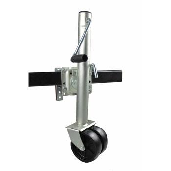 MaxxHaul 70149 Lift Swing Back Trailer Jack with Dual Wheels