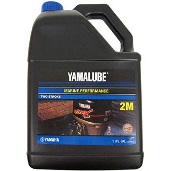 YAMAHA LUB-2STRK-M1-04 Yamalube 2M Marine 2-Stroke Oil NMMA TC-W3 Gallon